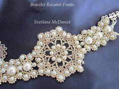 Beaded Bracelet Russian Frosts. Браслет из бисера Русские Морозы - YouTube