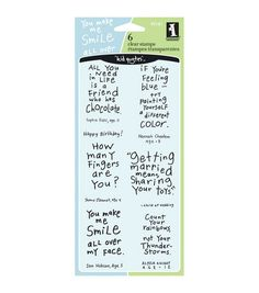 Inkadinkado® Clear Stamps-Friendly AdviceInkadinkado® Clear Stamps-Friendly Advice,