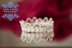Isn't this cute?!!!  Pearl Newborn Crown Prop for babies newborns toddlers Infant photography creamy white with pearls newborn crown prop for babies, $8.95