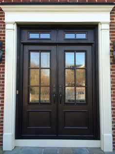 Divided Light with Transom Clark Hall Iron Doors Charlotte, NC Emailed. - Divided Light with Transom Clark Hall Iron Doors Charlotte, NC Emailed. Double Front Entry Doors, Front Door Entryway, Iron Front Door, Wood Front Doors, House Front Door, House Entrance, Iron Doors, Entryway Decor, Entrance Hall