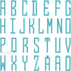 Parkland Embroidery Fonts Set Just Upper Case Set Sizes