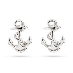 Sterling Silver Anchor Stud Earrings #EvesAddiction