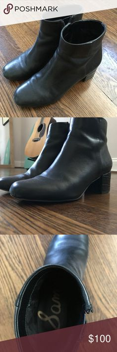 Sam Edelman Edith Ankle Boots Sam Edelman Edith Black Leather Ankle Boots (Size 5.5 US). In good condition.   Original example here: https://www.amazon.com/Sam-Edelman-Womens-Edith-Boot/dp/B01AXF7JOG?th=1&psc=1 Sam Edelman Shoes Ankle Boots & Booties