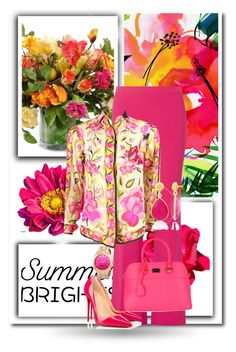 """""""Summer Brights"""" by dezaval ❤ liked on Polyvore featuring New Growth Designs, Diane Von Furstenberg, Emilio Pucci, Christian Louboutin and summerbrights"""