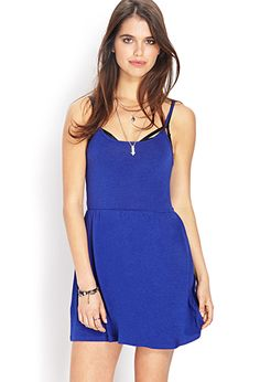 Classic Fit & Flare Dress | FOREVER21 - 2000124471 BLACK