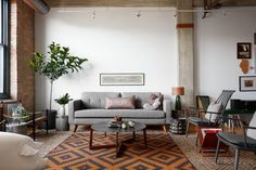 A collection of inspiration images featuring the 2018 color trend 'Neutral Gray'