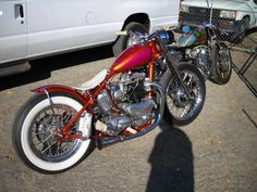 Trumpy bobber belongs/belonged to Brian Setzer at one point....The CB is crazy good too!