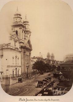 Rua Direita e Capela Imperial   1865  Rio de Janeiro