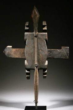 Africa | Door lock from the Dogon people of Mali | Carved wood | ca. 50 yrs old