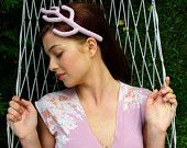 This is our statement Antler Headpiece in Pale Pink. Antler's shape and position can be altered to ensure perfect fit to your head and hairdo.