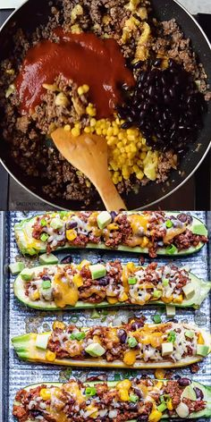 These Healthy burritos are low carbs and the perfect meal the whole family can enjoy. Easy to make burrito recipe made with zucchini and incredibly delicious. for dinner healthy clean eating LOW CARB BURRITO ZUCCHINI BOATS Gluten Free Recipes For Dinner, Healthy Dinner Recipes, Soup Recipes, Vegetarian Recipes, Keto Recipes, Healthy Soup, Easy Recipes, Healthy Snacks, Healthy Zucchini