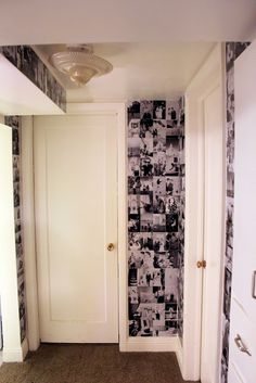 Wall Decor-Black and White Photographs Used as Wallpaper