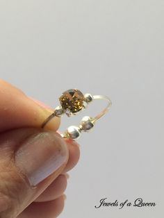 Topaz Ring Swarovski Crystal Ring Wire Wrapped Jewelry Handmade Jewelry Swarovski Solitaire Ring Stackable Ring by JewelsofaQueen on Etsy