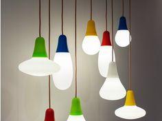 Lámpara colgante de polietileno con luz directa CIULIFRULI - Martinelli Luce