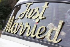 Image result for just married car sign diy