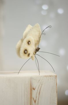 Nadel Filz Butterfly Nadel Filz weiß von FeltArtByMariana auf Etsy