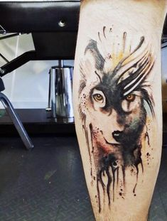 Wolf Chest Tattoo For Men