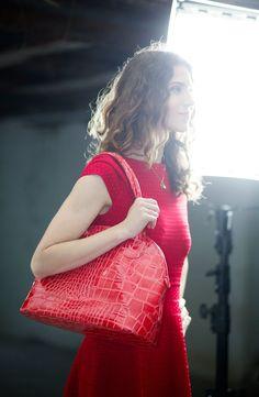#KarenMille #red #dress #autumn