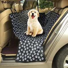 T-MENG Pet Products Car Seat Covers Mat for Dogs Paw pattern Oxford Waterproof Back Bench Seat Dog Carriers Travel Accessories
