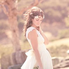 floral wedding hair crown 'MAIDEN' boho bridal head by whichgoose, $60.00
