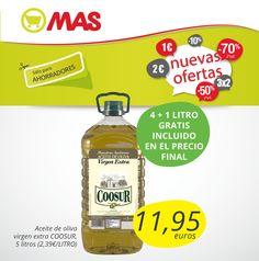 Hasta el 30 de julio, el #aceite de oliva virgen extra de #oferta: 11,95€/5 litros, ¡puro sabor #mediterráneo!