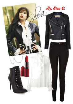 A fashion look from December 2014 featuring shirt blouse, 100 leather jacket and Lanvin. Browse and shop related looks. Selena Quintanilla Outfits, Selena Quintanilla Birthday, 90s Fashion, Fashion Outfits, Icon Fashion, Fashion Guide, School Fashion, Fashion Black, Fashion Ideas