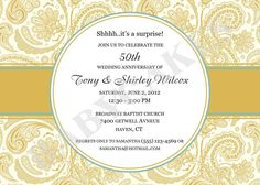 Wrapping Anniversary Invitation Template Th Th Wedding - Wedding invitation templates: golden wedding anniversary invitations templates