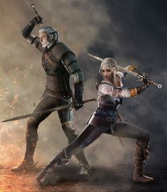 Together Again - Geralt and Ciri (Witcher 3) by Shinobi2u.deviantart.com on @DeviantArt