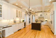 Design Build Portfolio - TR Building & Remodeling Inc. Kitchen Island, Kitchen Cabinets, Smart Home Technology, White Cabinets, Building Design, Laundry Room, Flooring, Lighting, True North
