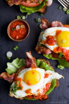 The ultimate BLT Sandwich topped off with an egg and spicy Harissa for one fantastic bite. This Open Faced BLT…