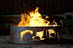 (CLICK IMAGE TWICE FOR UPDATED PRICING AND INFO) #home #outdoor #firepit #outdoorfirepit #tablefirepit #outdoorpatiofirepit #portablefirepit see more patio fire pit at http://zpatiofurniture.com/category/patio-furniture-categories/patio-fire-pit/ -  P Metal Works Bear N Cubs Fire Ring « zPatioFurniture.com