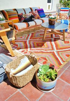 A California Patio Exploding With Pattern  Color