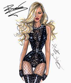 Hayden Williams Fashion Illustrations | Intro: Beyoncé Mrs. Carter Show World Tour 2014 by Hayden Williams