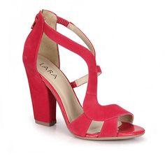 Sandália Salto Lara 8144257  - Pink