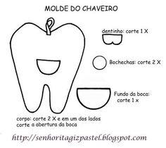Resultado de imagem para dente feltro molde