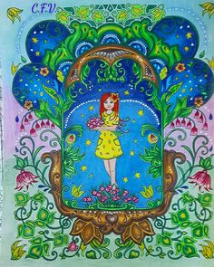 Johanna Basford Ivy and the inky butterfly Colored by me 14/10/17