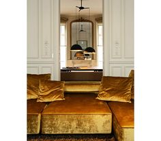 STUDIO KO: in Paris everything is just a little more glamorous. sofa by B&B Italia upholstery fabirc by Andrew Martin