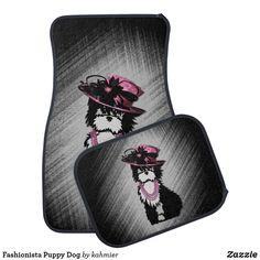 Fashionista Puppy Dog Car Floor Mat