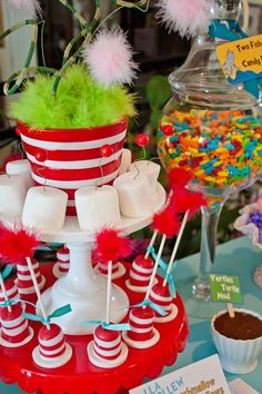 Cat in the Hat Baby Shower Decorations | Cat In The Hat baby shower @Angela Steinhauer - made me think of you!