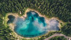 This is 'Lago di Carezza' aka the worlds bluest lake Italy. [3992x2242][OC]