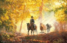 AUTUMN MORNING RIDE – Tim Cox
