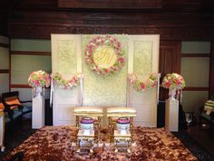 Thai wedding ceremony setup by Leave it on me-wedding planner at 137 Pillars House, Chiang Mai