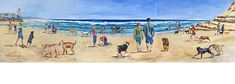 Dog Beach II  WENDY GAUNTLETT-SHAW - ARTIST  Del Mar Dog Beach