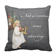 Not A Creature Was Stirring Christmas Pillow Decor - Xmas ChristmasEve Christmas Eve Christmas merry xmas family kids gifts holidays Santa