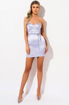 sexy satin mini dress with cutouts by AKIRA Pink Satin Dress, Satin Dresses, Sexy Dresses, Cute Dresses, Hot Dress, Dress Skirt, Dress Up, Bodycon Dress, Khloe Kardashian Hair