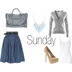 This would be a cute church outfit. minus the shoes. [yeah, I'd be keeping the shoes]