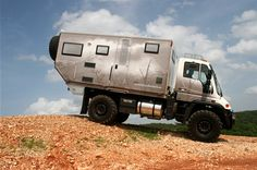 If Chuck Norris went on a road trip, he'd travel in a Global Xpedition Vehicle(bwahahaha!!). This beast comes fitted with the same luxurious interior as an RV, but on a chassis allowing for serious off-roading. Don't just see the Grand Canyon – drive through it.