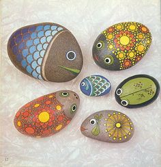 painted stones for your mom's garden!!!