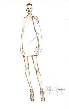 Fashion illustration - fashion design sketch // Gabriele Colangelo