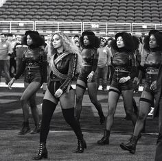 Beyonce performing her new song Formation at the 2016 Super Bowl Halftime Performance. Standing for Black Panthers 50th Anniversary in addition to paying Michael Jackson tribute during her performance by her outfit. I picked this picture because I thought she chose a great platform in the Super Bowl to continue to be a activist for African Americans and Black women.